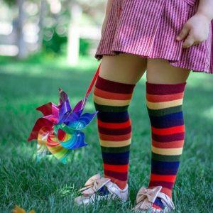 جوراب رنگی دخترانه
